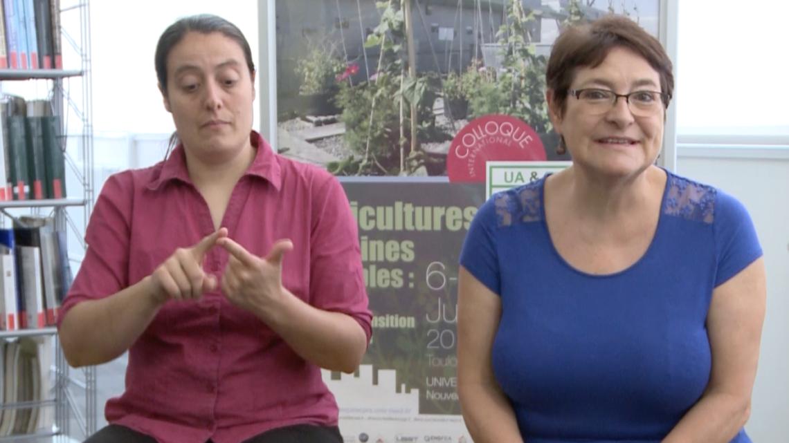 Interview en LSF du Dr Christine Aubry, Professeure en agronomie AgroParisTech