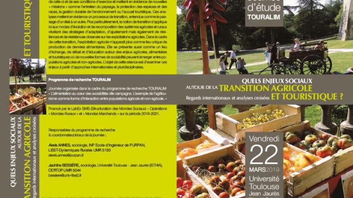 Journée d'étude TOURALIM le 22 mars à Toulouse