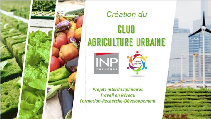 Création du «Club Agriculture Urbaine»